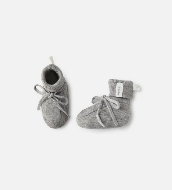 Newborn Booties - Grey