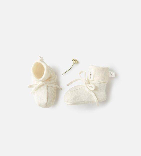 Newborn Booties - Ivory