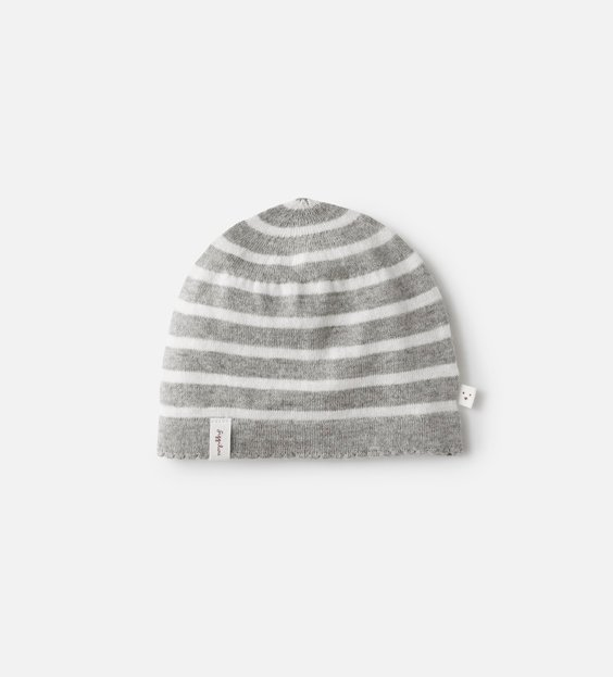 Newborn Scallop Hat - Stripe