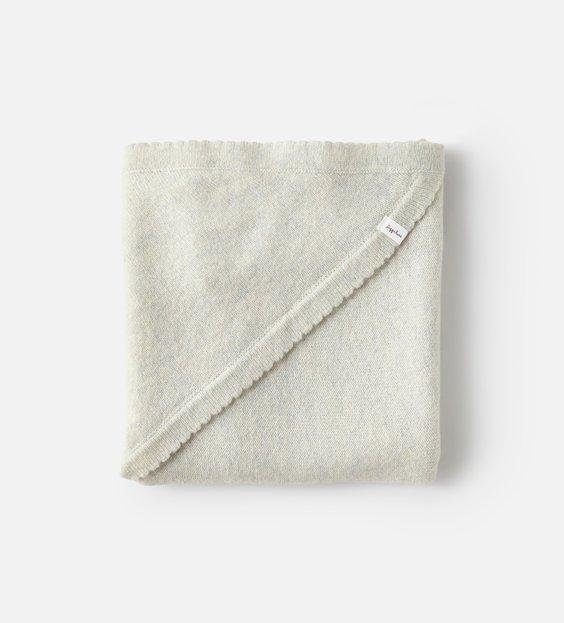 Scallop Blanket - Mist