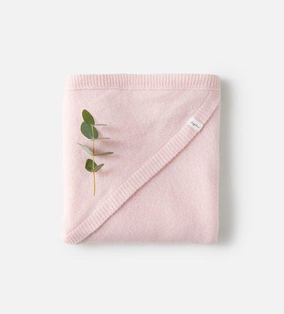 Rib Blanket - Rose