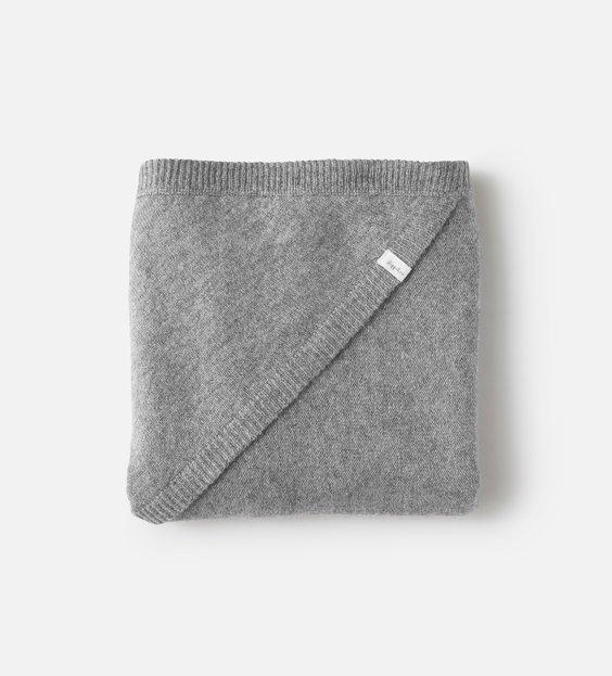 Rib Blanket - Charcoal