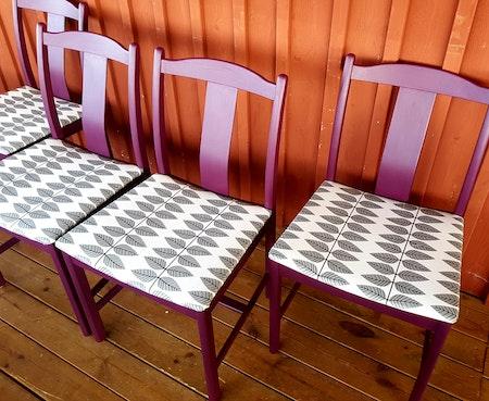 """4 st stolar """"Renoveringsuppdrag"""""""
