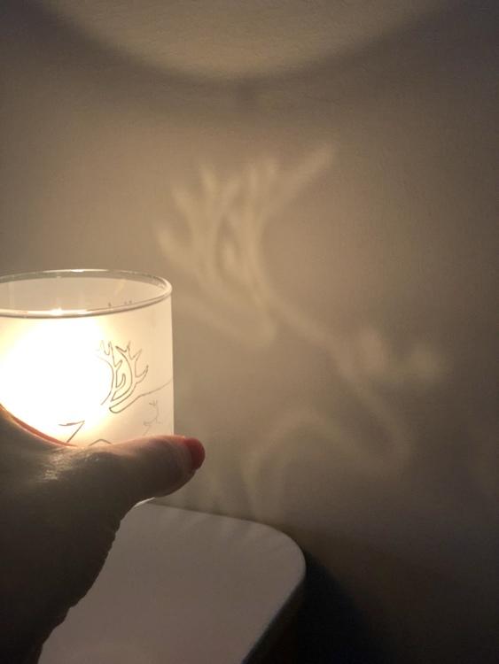 63004 Frosted candelholder /Frostad glaslykta ren