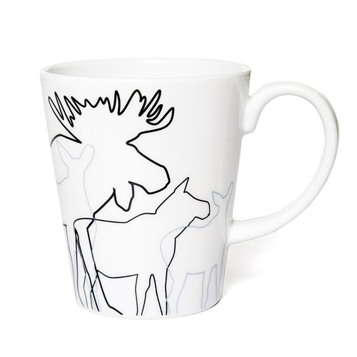 62723 MUG WITH HANDLE MOOSE/ ÄLG MUGG MED HANDTAG