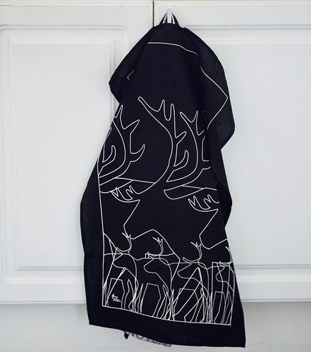 63027 KÖKSHANDDUK REN SVART/KITCHEN TOWEL BLACK