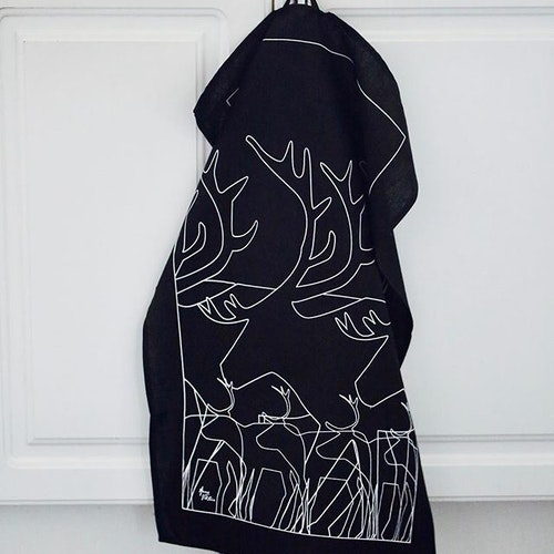 62823 KÖKSHANDDUK REN SVART/KITCHEN TOWEL BLACK