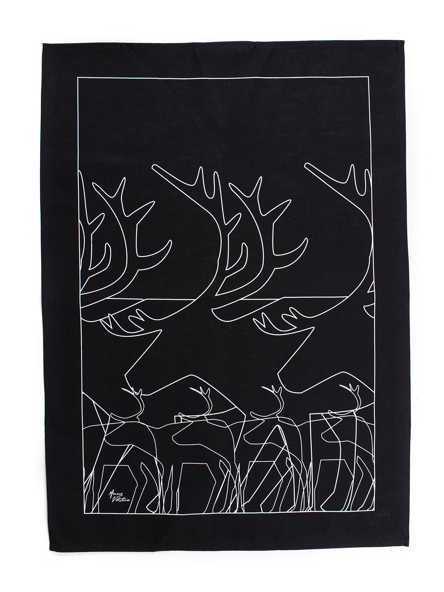 63027 KÖKSHANDDUK REN SVART/KITCHEN TOWEL BLACK