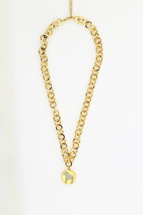 63099 NORDIC NECKLACE GOLD DALAHORSE 45 CM / HALSBAND DALAHÄST