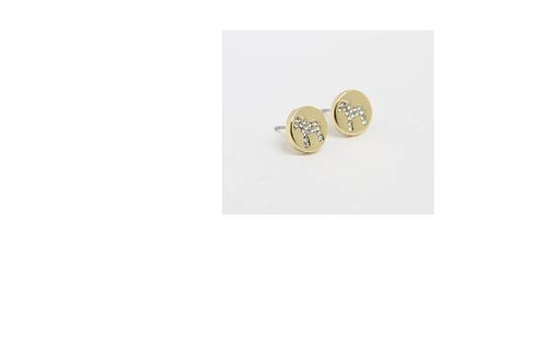 63097 Nordic crystal  stick ear gold / örhänge dalahäst