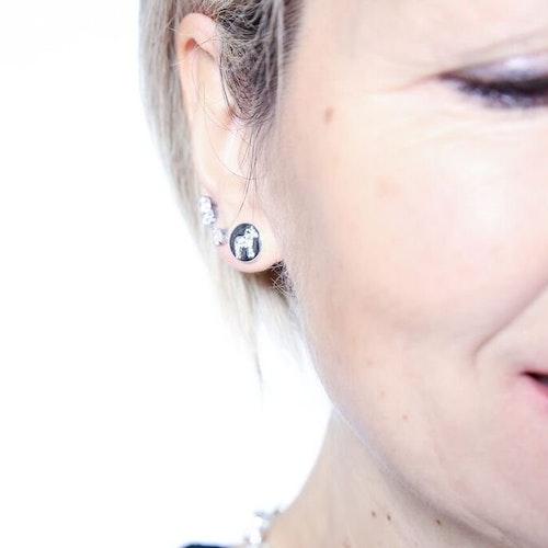 63060 Nordic crystal stick earsilver / örhängen silver