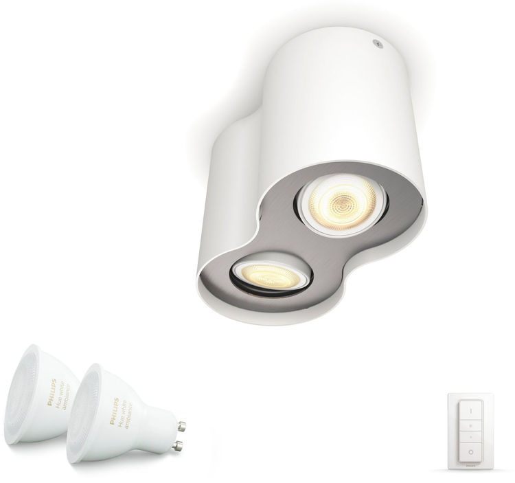Philips Hue Pillar Dual Spot (Include remote) - White