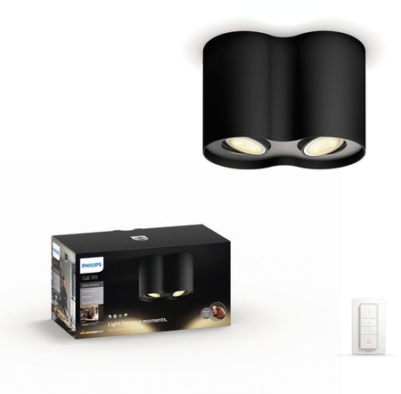 Philips Hue Pillar Dual Spot (Include remote) - Black