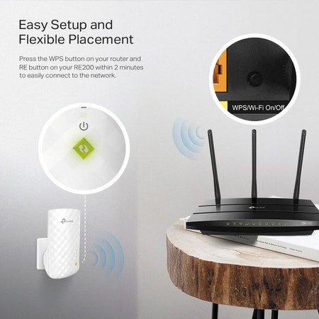 TP-Link RE200 Dual band wi-fi repeater