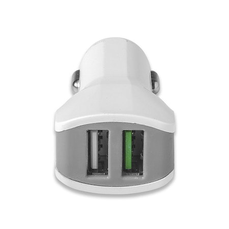 CELLY Car Charger Turbo 2xUSB 3.4A - White