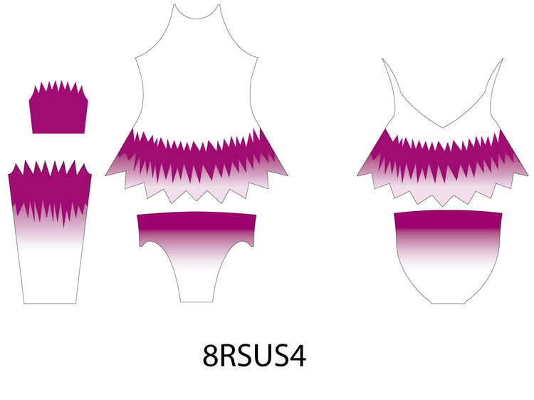 Kopia 8RSU4 - Aerobic /RG / Konståkning  tävlingsdräkt