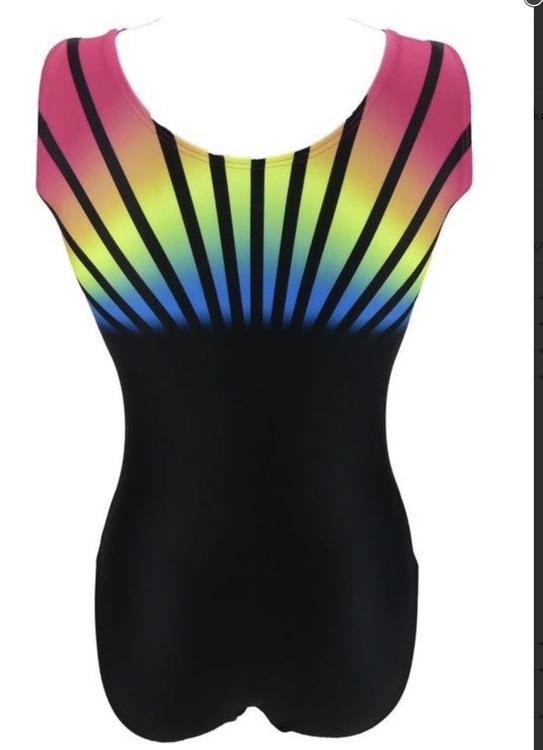Rainbow Svart gymnastikdräkt