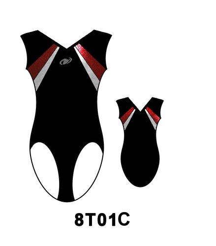 HG Kortärmad flickdräkt (Truppgymnastik) - 8T01