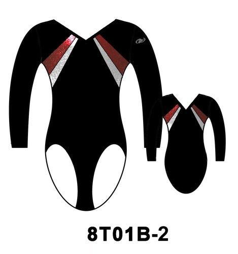 HG Långärmad flickdräkt (Truppgymnastik) - 8T01B