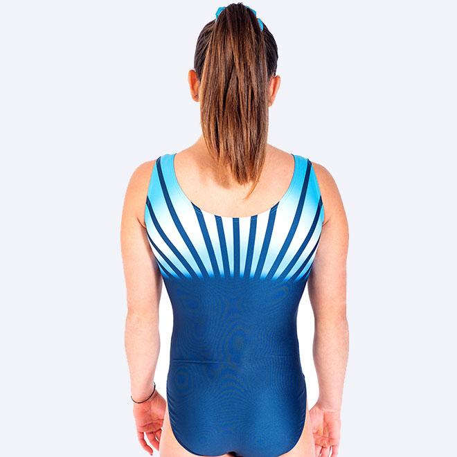 Rainbow ljusblå gymnastikdräkt