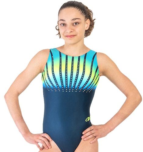 Rainbow Blå gymnastikdräkt