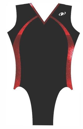 Dacke kortärmad flickdräkt (Truppgymnastik) - 8T15