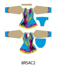 8RSAC2- Aerobic /RG / Konståkning  tävlingsdräkt