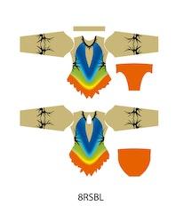 8RSBL - Aerobic /RG / Konståkning  tävlingsdräkt