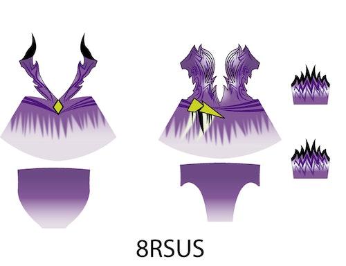 8RSus - Aerobic /RG / Konståkning  tävlingsdräkt