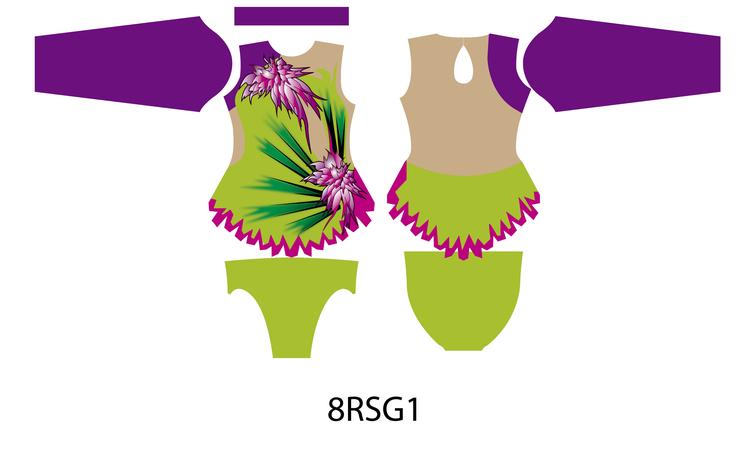 8RSG1 - Aerobic /RG / Konståkning  tävlingsdräkt
