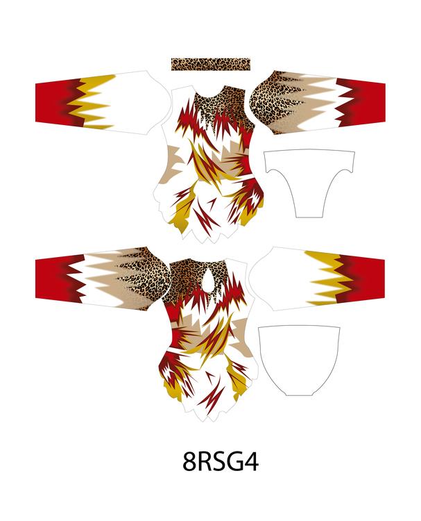 8RSG4 - Aerobic /RG / Konståkning  tävlingsdräkt