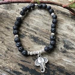 Armband, ELEFANT, lava
