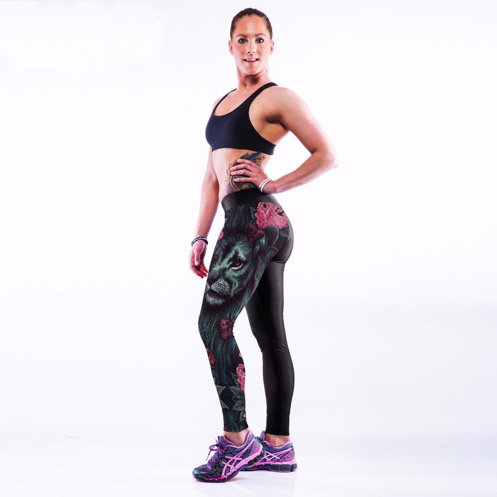 Svarta Lejon Ros Sport Leggings