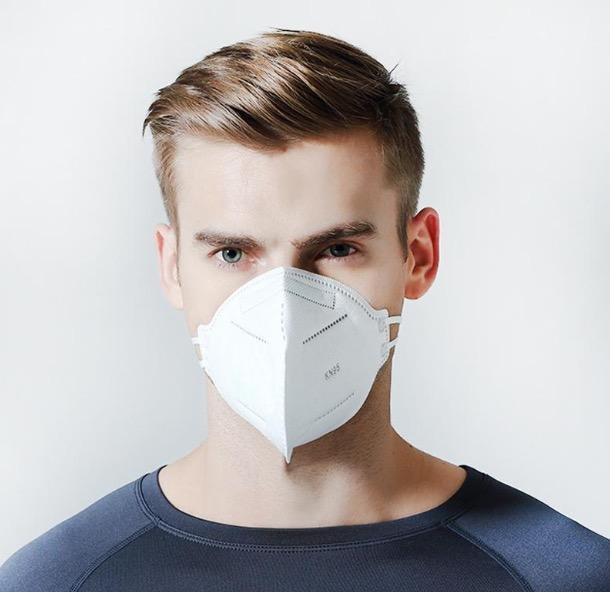 Munskydd Ansiktsmask KN95 med över 95% filtrering 20-pack