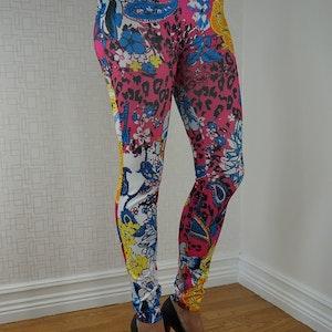 Blommiga leggings Fynd