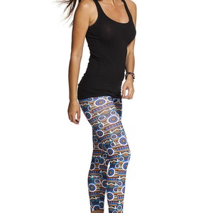 Blue Circles Leggings