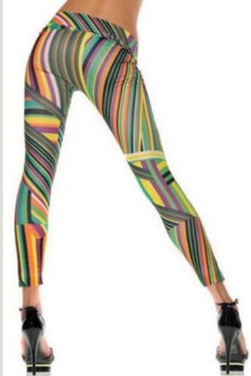 Färgglada mönstrade leggings