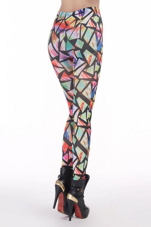 Rainbow glass leggings