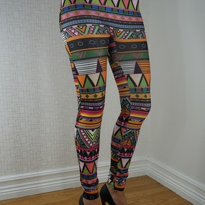 Mönstrade leggings Fynd