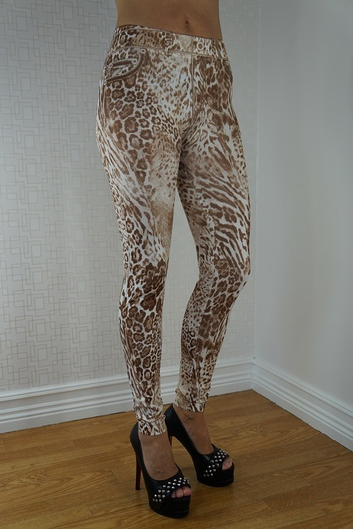 Leopard leggings Fynd
