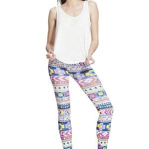 Färg glada mönstrade leggings
