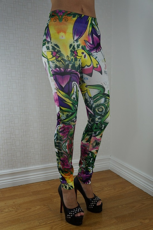 Blommiga Leggings Fynd