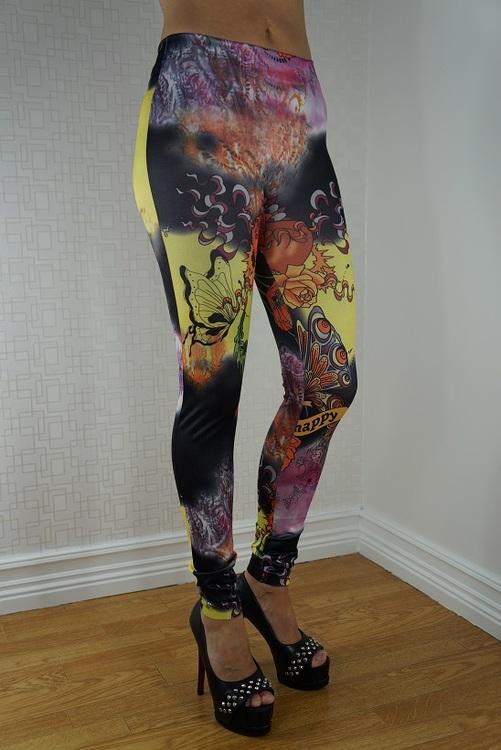 Happy tattoo leggings