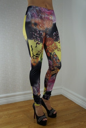 Happy tattoo leggings