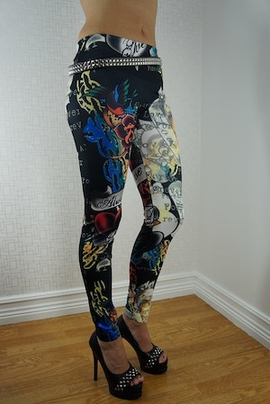 Color Tattoo Leggings