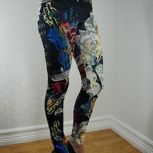 Color Tattoo Leggings Fynd