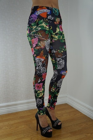 Black Rose Tattoo Leggings