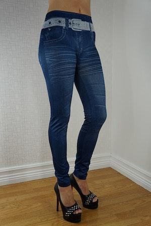 Star Belt Blue Leggings