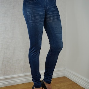 Star Belt Blue Leggings