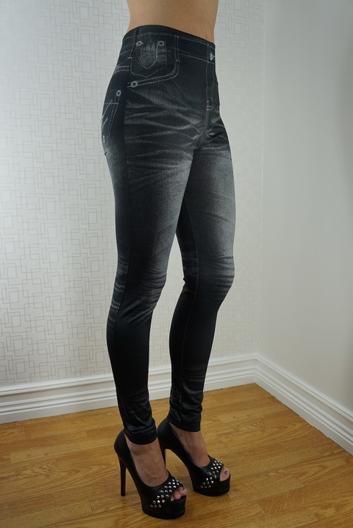 Black & BLue Stonewashed Leggings